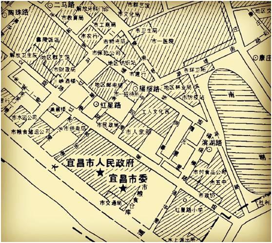 (1984年云集街办地图,区域内中现里,同春里和履元里清晰可见)