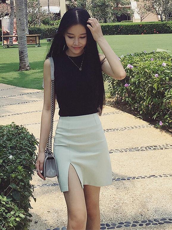 春季穿上包臀裙展现迷人优雅气质:青春活力(图)