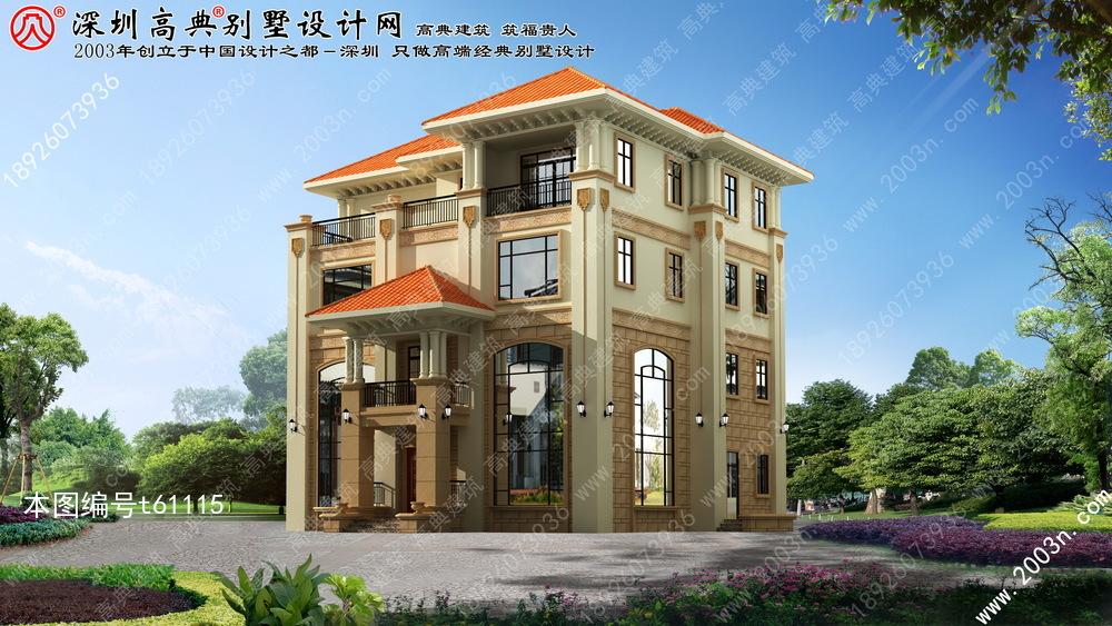 别墅设计效果图, 豪华别墅设计图, 欧式别墅外观效果图图片