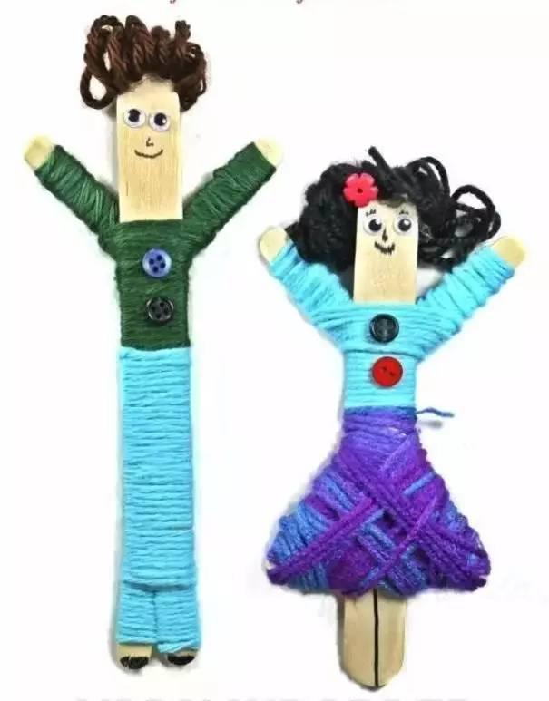 幼儿园毛线新玩法,玩偶,拼贴画瞬间 get!