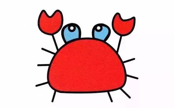幼儿简笔画 10种海洋生物详细教程,还有颜色喔