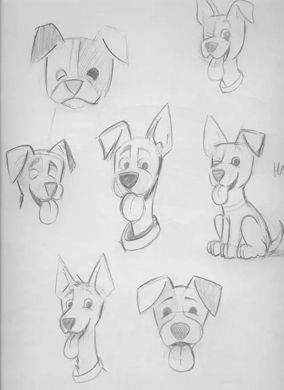 狼怎么画-狗狗作为人类最忠实的朋友   相当然该被画出来,   你有只宠物狗吗?