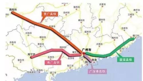 高铁通车后,贵阳到广州的时间从22小时缩短至4小时,南宁至广州从14