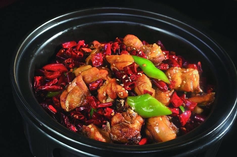 野菌干锅鸡鲍鱼黄米粥图片