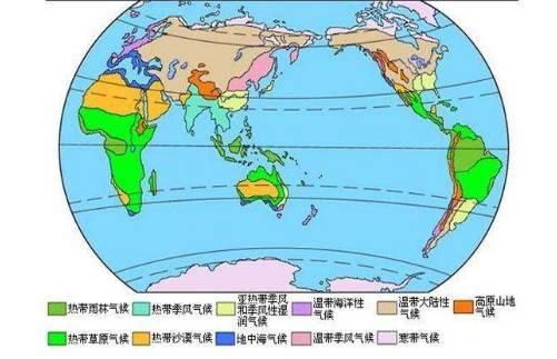 几处特殊气候类型分布与形成原因