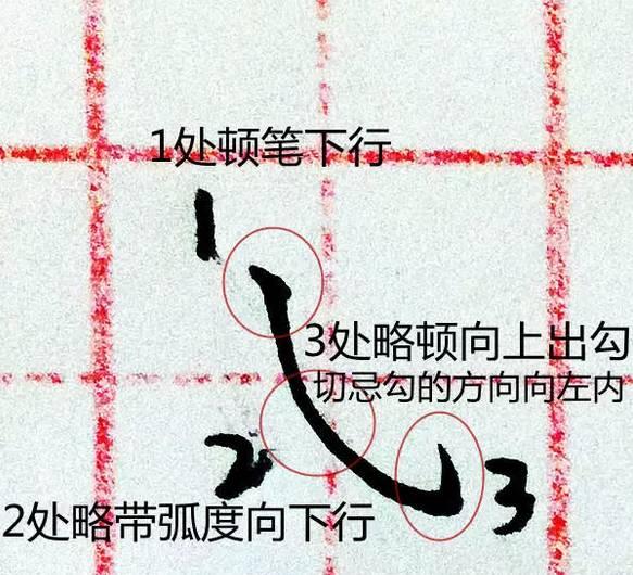 硬笔书法 19种基础笔画运笔图解