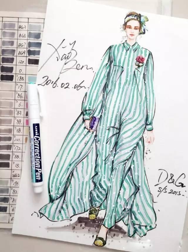 学习的服装手绘效果图方法分享