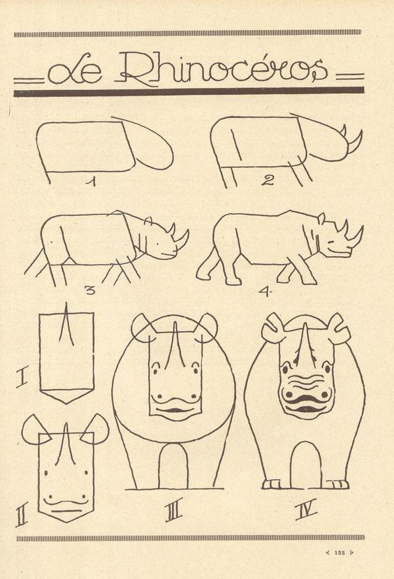 平面图形动物简单画