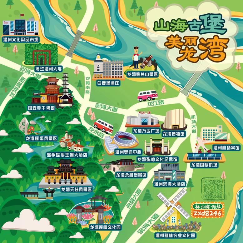 所有人,龙湾旅游手绘地图投票正式开始,快来投上你宝贵的一票!
