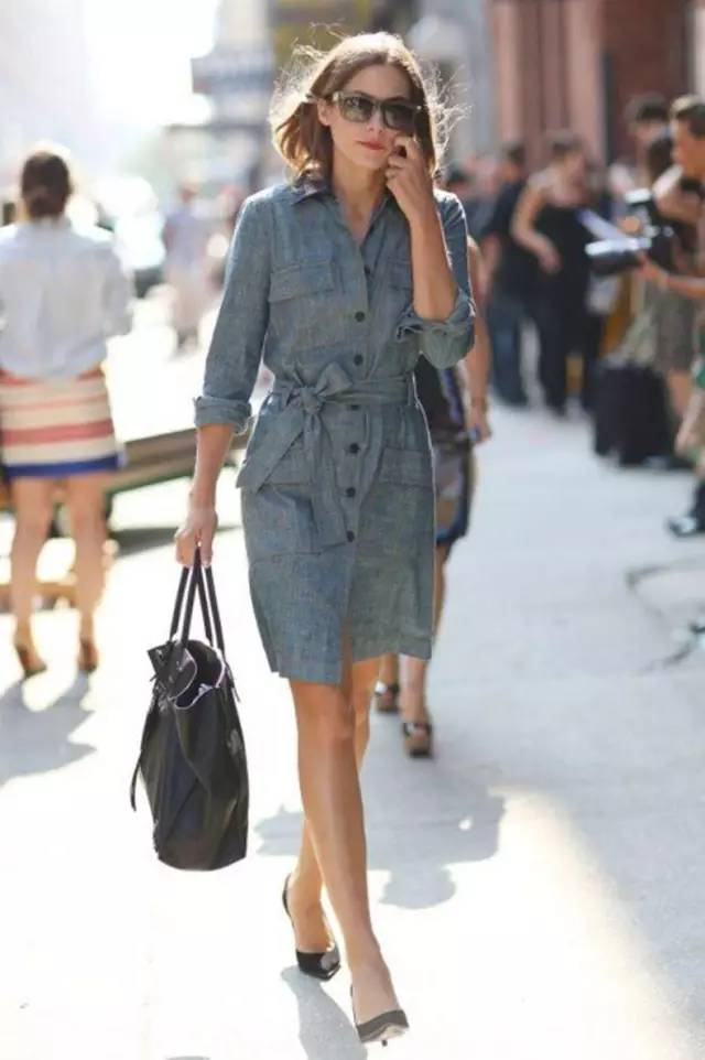 经典百搭的气质衬衫裙又火了,时髦又有女人味! 服饰潮流 图30