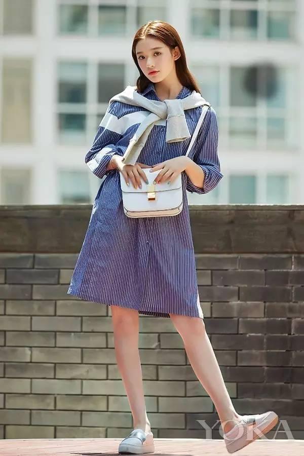 经典百搭的气质衬衫裙又火了,时髦又有女人味! 服饰潮流 图16