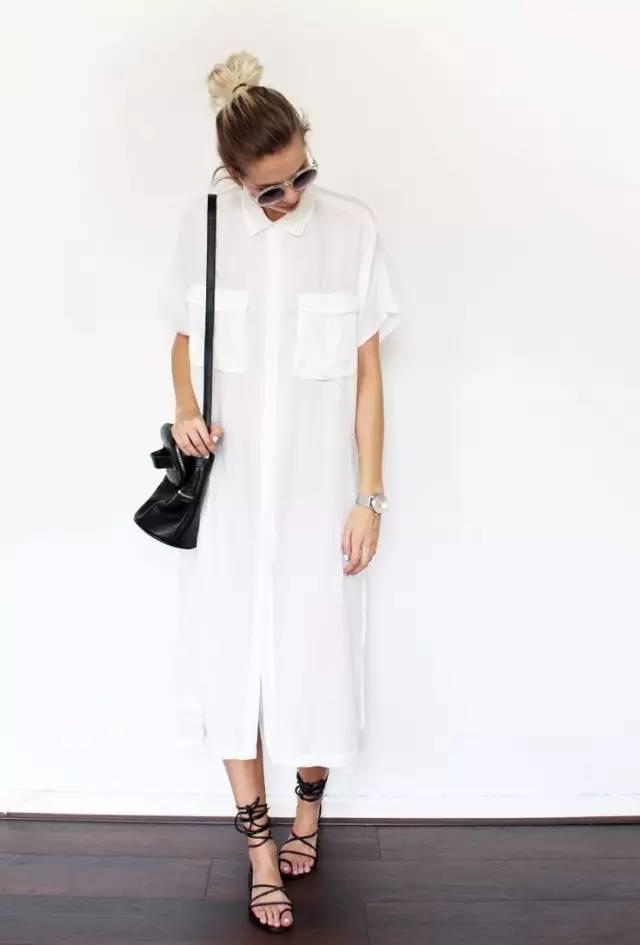 经典百搭的气质衬衫裙又火了,时髦又有女人味! 服饰潮流 图12