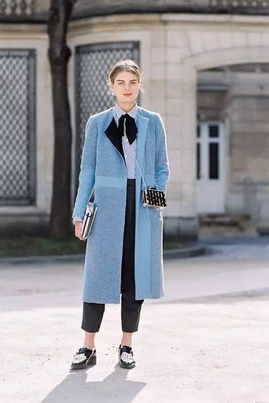 这三款平底鞋配大衣,经典又时髦,绝对是气场十足! 服饰潮流 图39