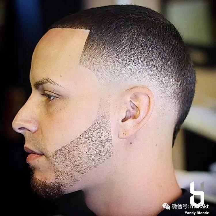 男士青皮渐变短发发型图片