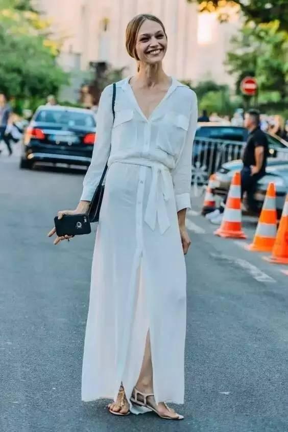 经典百搭的气质衬衫裙又火了,时髦又有女人味! 服饰潮流 图44