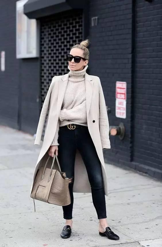 这三款平底鞋配大衣,经典又时髦,绝对是气场十足! 服饰潮流 图56