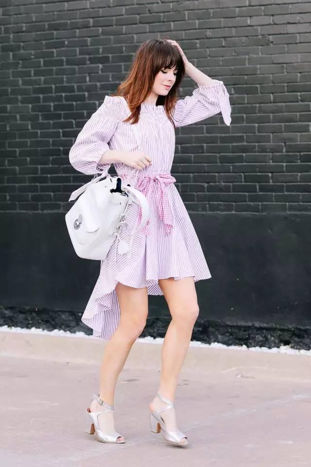 经典百搭的气质衬衫裙又火了,时髦又有女人味! 服饰潮流 图23