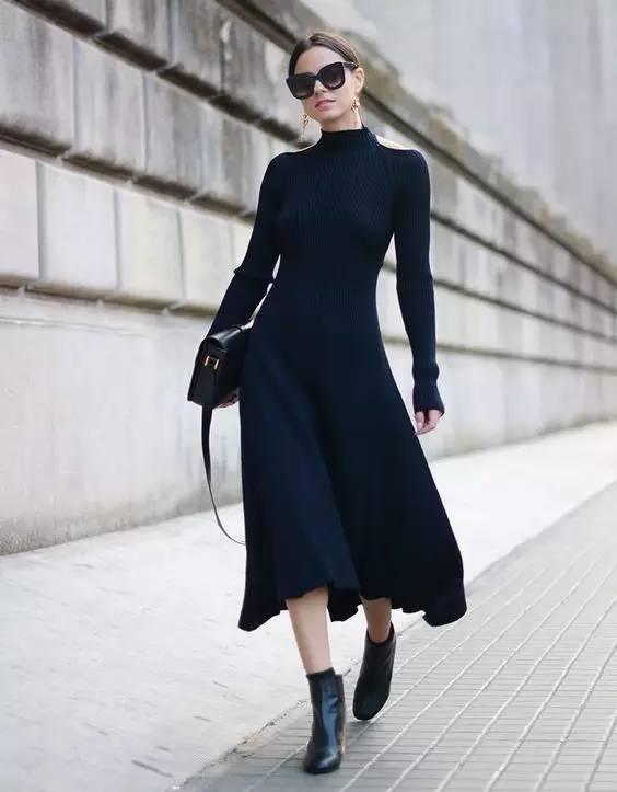 开年上班装就来件毛衣裙,这样穿才是真女神? 服饰潮流 图22