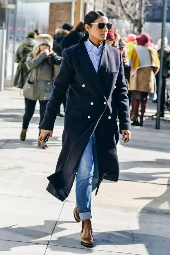 这三款平底鞋配大衣,经典又时髦,绝对是气场十足! 服饰潮流 图85