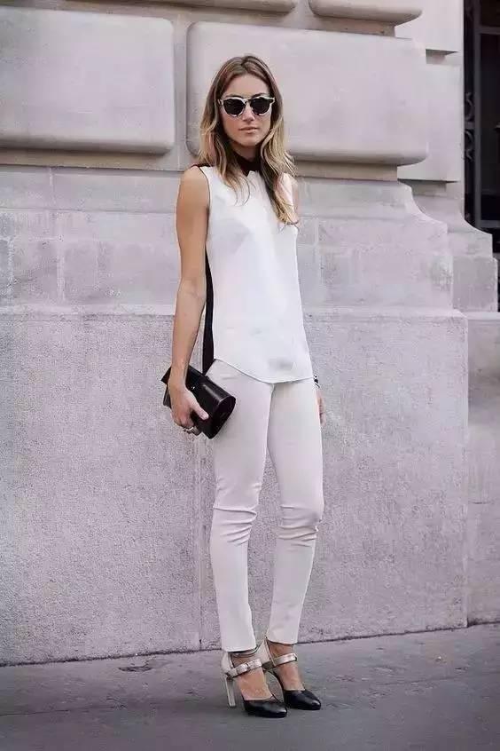 白裤子显胖?NO!这样穿搭,你也能又高又瘦! 服饰潮流 图8