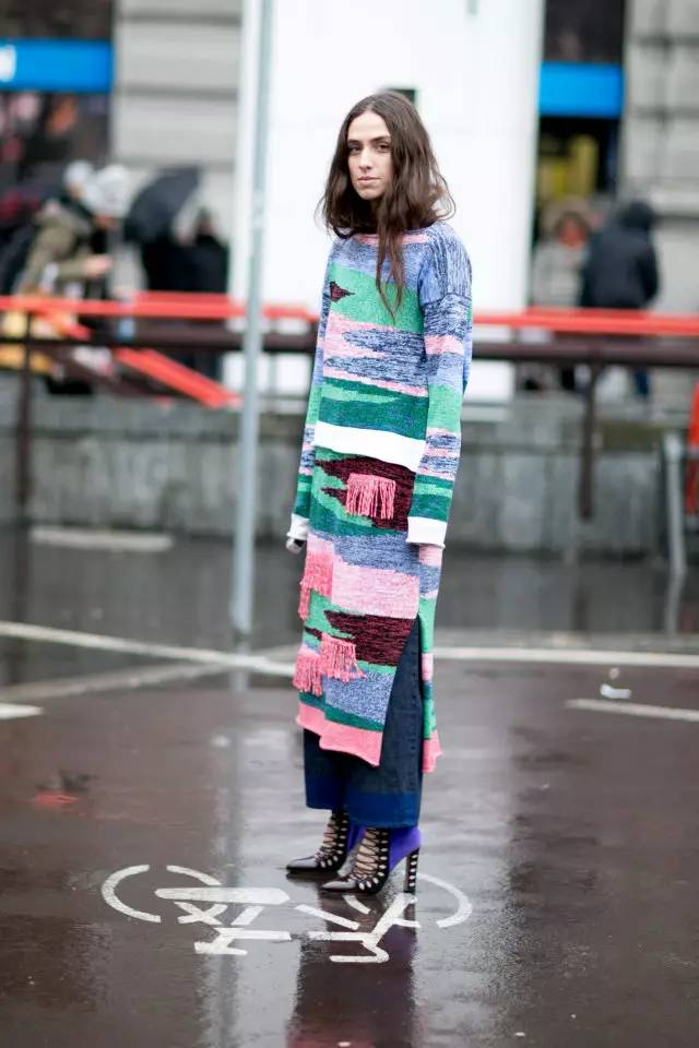 开年上班装就来件毛衣裙,这样穿才是真女神? 服饰潮流 图23