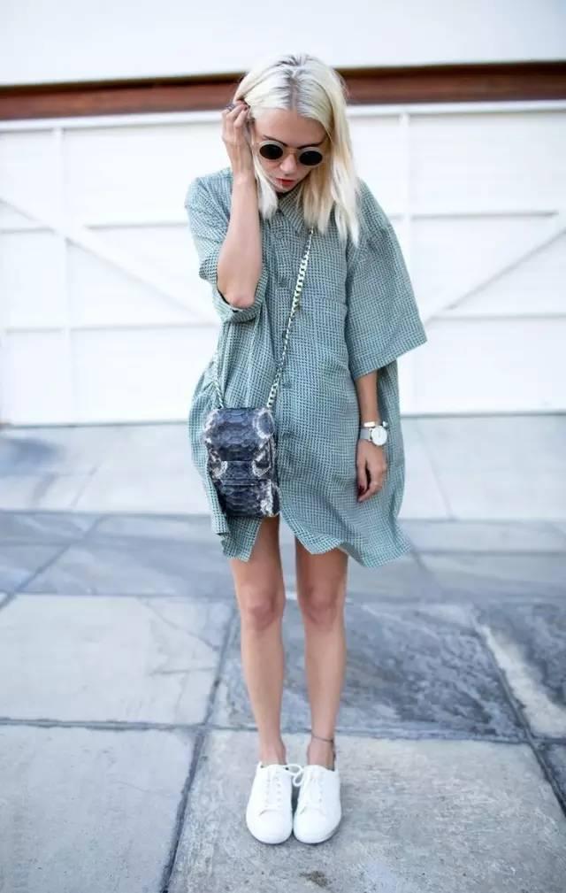 经典百搭的气质衬衫裙又火了,时髦又有女人味! 服饰潮流 图36