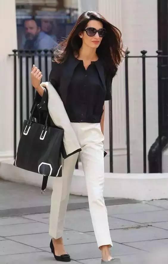 白裤子显胖?NO!这样穿搭,你也能又高又瘦! 服饰潮流 图18