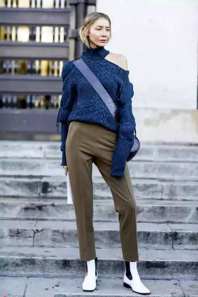 让腿变长变瘦变直的烟管裤,谁穿谁时髦! 服饰潮流 图21