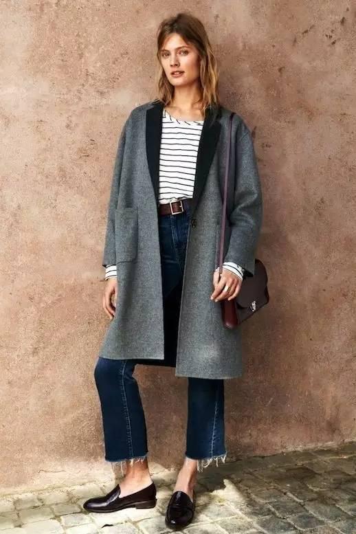 这三款平底鞋配大衣,经典又时髦,绝对是气场十足! 服饰潮流 图50