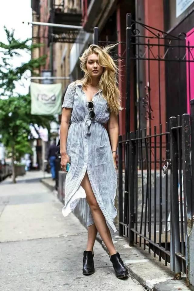 经典百搭的气质衬衫裙又火了,时髦又有女人味! 服饰潮流 图20