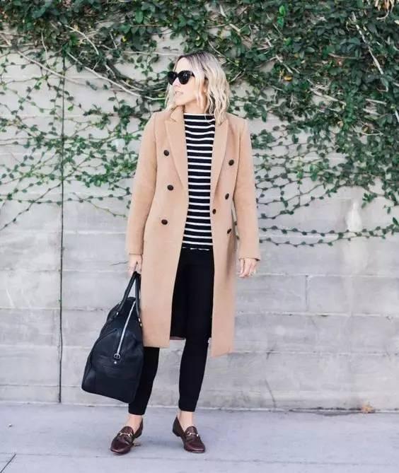 这三款平底鞋配大衣,经典又时髦,绝对是气场十足! 服饰潮流 图44