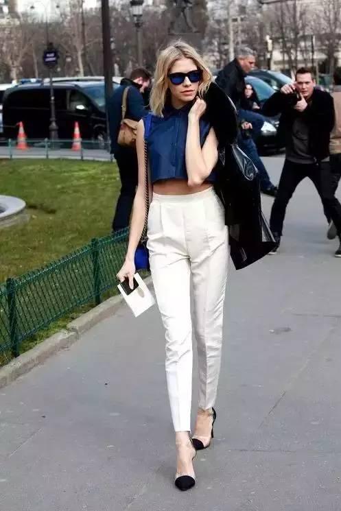 白裤子显胖?NO!这样穿搭,你也能又高又瘦! 服饰潮流 图17