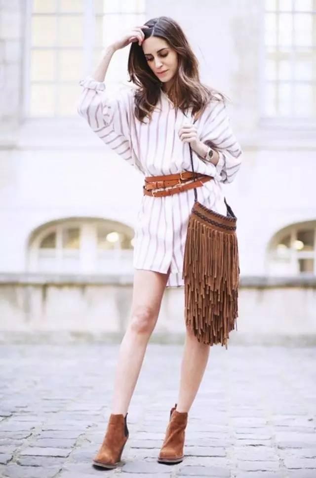经典百搭的气质衬衫裙又火了,时髦又有女人味! 服饰潮流 图21