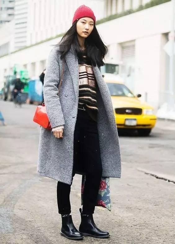 这三款平底鞋配大衣,经典又时髦,绝对是气场十足! 服饰潮流 图79