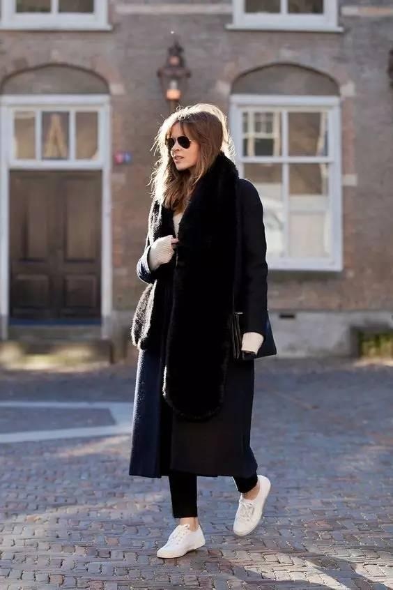 这三款平底鞋配大衣,经典又时髦,绝对是气场十足! 服饰潮流 图7