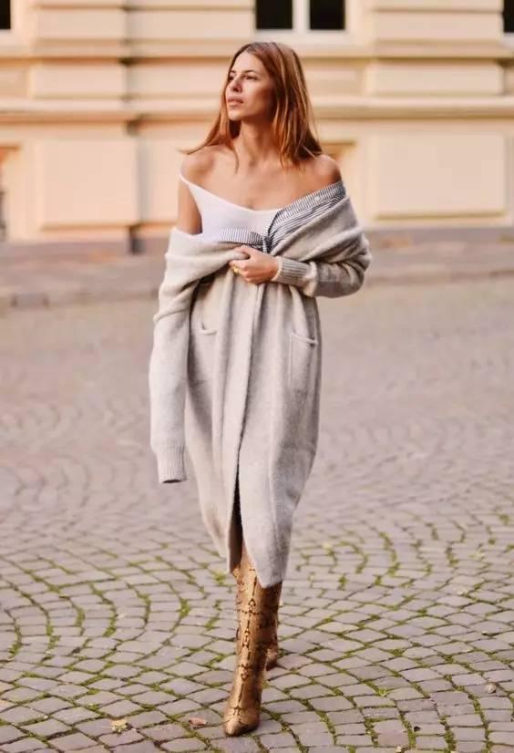 这个季节,你最缺的百搭又保暖的衣服就是一款长开衫 服饰潮流 图2