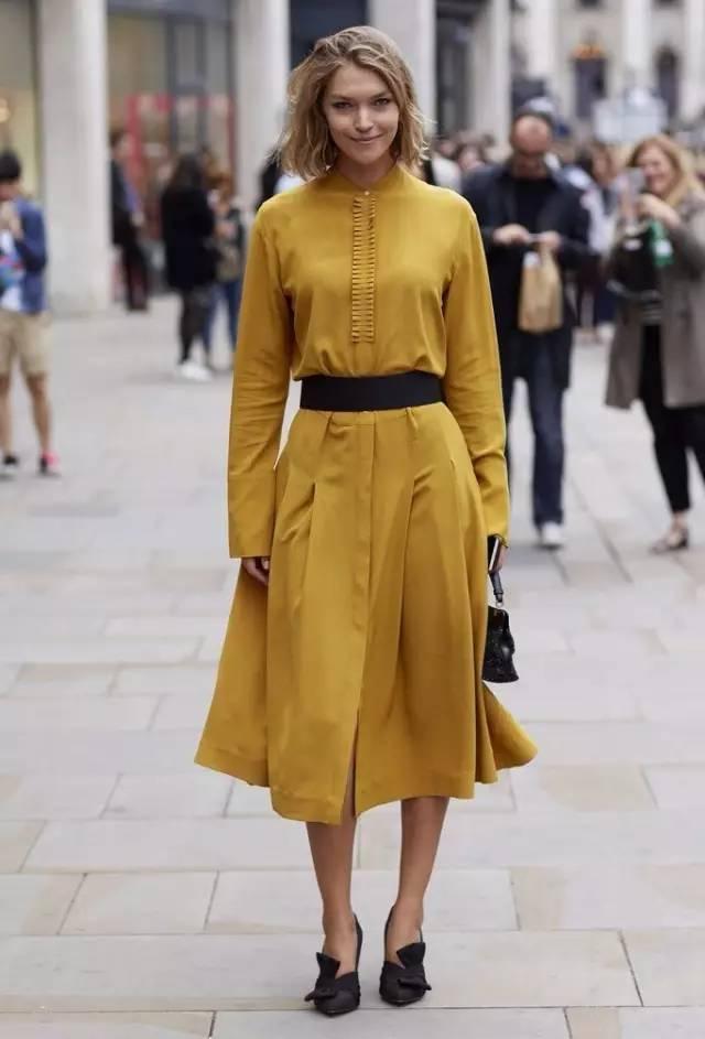 经典百搭的气质衬衫裙又火了,时髦又有女人味! 服饰潮流 图45