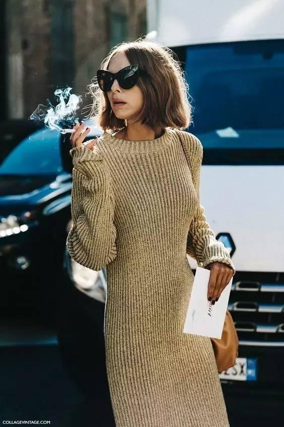开年上班装就来件毛衣裙,这样穿才是真女神? 服饰潮流 图8
