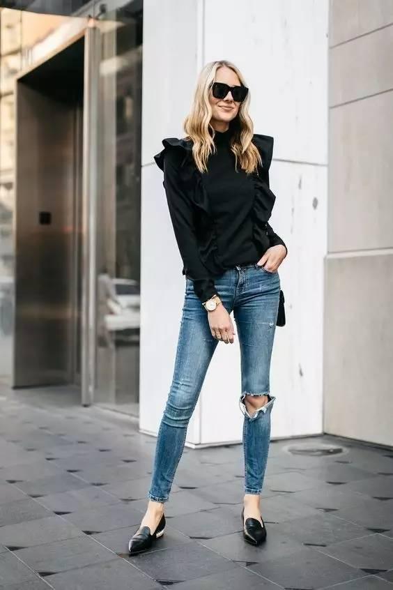 讲真,破洞裤简直就是不花钱的瘦腿良药!! 服饰潮流 图21