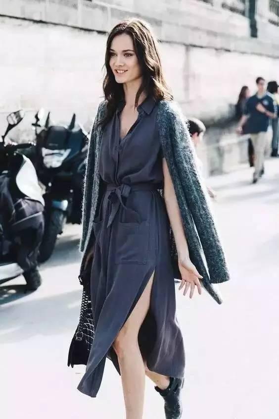 经典百搭的气质衬衫裙又火了,时髦又有女人味! 服饰潮流 图63