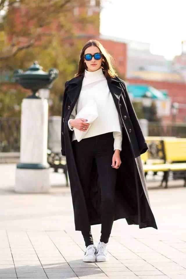 这三款平底鞋配大衣,经典又时髦,绝对是气场十足! 服饰潮流 图10