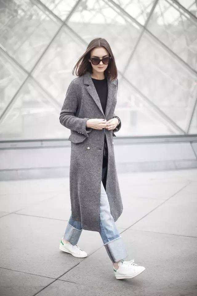 这三款平底鞋配大衣,经典又时髦,绝对是气场十足! 服饰潮流 图20