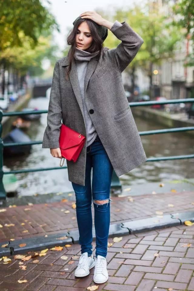 这三款平底鞋配大衣,经典又时髦,绝对是气场十足! 服饰潮流 图18