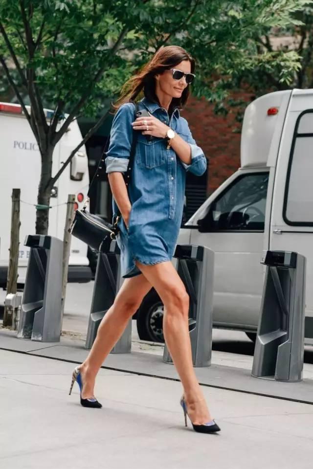 经典百搭的气质衬衫裙又火了,时髦又有女人味! 服饰潮流 图27