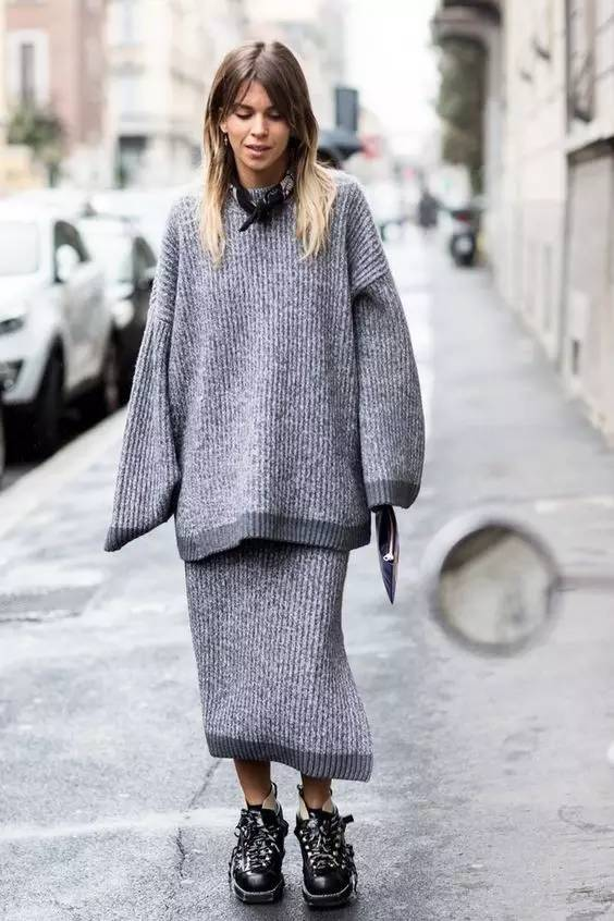 开年上班装就来件毛衣裙,这样穿才是真女神? 服饰潮流 图15