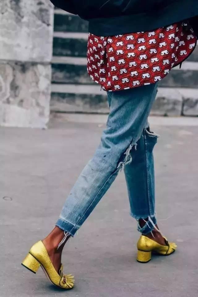 讲真,破洞裤简直就是不花钱的瘦腿良药!! 服饰潮流 图2