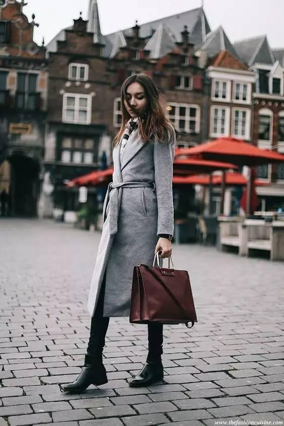 这三款平底鞋配大衣,经典又时髦,绝对是气场十足! 服饰潮流 图82