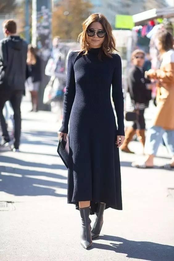 开年上班装就来件毛衣裙,这样穿才是真女神? 服饰潮流 图21