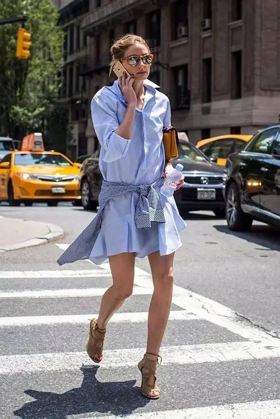 经典百搭的气质衬衫裙又火了,时髦又有女人味! 服饰潮流 图24