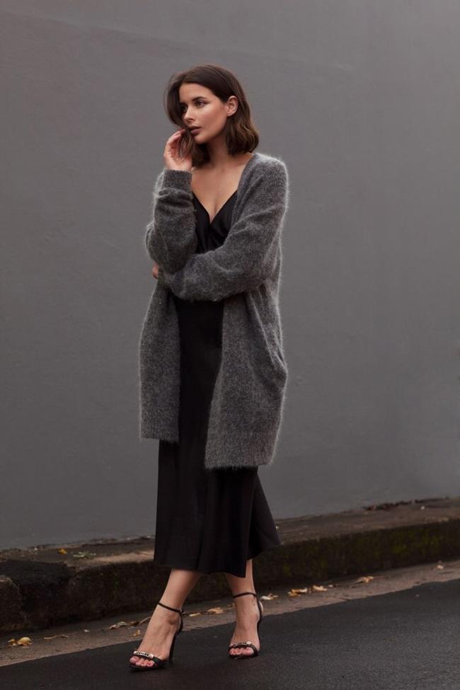 这个季节,你最缺的百搭又保暖的衣服就是一款长开衫 服饰潮流 图16